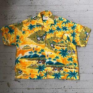 Other - Vintage 1950s Rayon Hawaiian Shirt Men's M